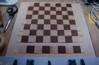 Schachbrett fertig geschnitten